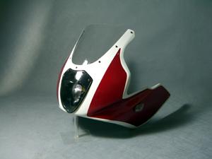 CB1300SF(03年~) ハーフカウル ルナソーレ ライトスモークスクリーン付 FRP/白 A-TECH(エーテック)
