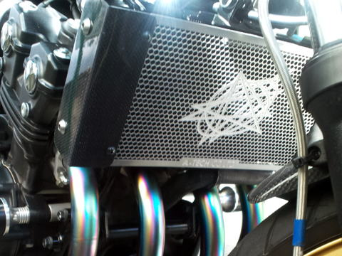 CB400SF VTEC ラジエターコアガード A-TECH(エーテック)