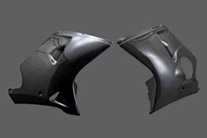 CBR1100XX(99年~) ロアーカウル 左右セット FRP/白 A-TECH(エーテック)