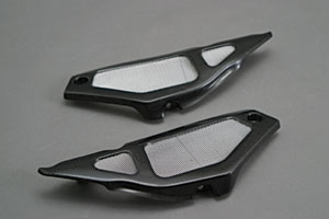 Aprilia RSV1000MILLE(01~03年) サイドカバー 平織りカーボン A-TECH(エーテック)