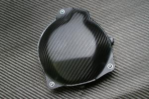 ZX-10R(06年~) ジェネレーターカバー STD(純正用)ドライカーボン ツヤ有 クリア塗装済 A-TECH(エーテック)