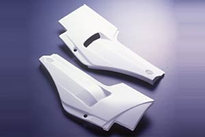 GPZ750R(84~85年) サイドカバーSPL(左右セット) FRP/白 A-TECH(エーテック)