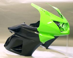 Ninja250R(ニンジャ)08~12年 サイドカウルSPL 綾織カーボン A-TECH(エーテック)