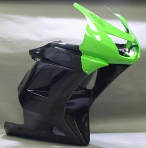 Ninja250R(ニンジャ)08~12年 アンダーカウルSPL FRP/黒 A-TECH(エーテック)