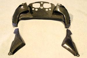 Ninja400R(ニンジャ)10年~ ダッシュパネル 平織カーボン A-TECH(エーテック)