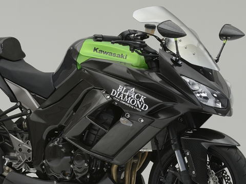 Ninja1000(ニンジャ)11~16年 ハーフカウルSPL3点SET FRP/黒(FB) A-TECH(エーテック)