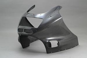 ZZR1100C(90~92年) アッパーカウルSPL FRP/白 A-TECH(エーテック)
