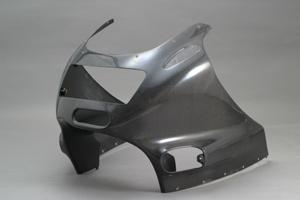 ZZR1100C(90~92年) アッパーカウルSTD FRP/白 A-TECH(エーテック)