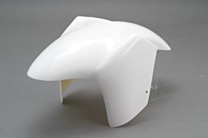 ZZR1100D(93~01年) 倒立タイプフロントフェンダー FRP/白 A-TECH(エーテック)