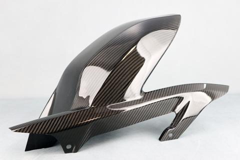 平織ドライカーボン リアフェンダー クリア塗装済 A-TECH(エーテック) Z900RS(18年)