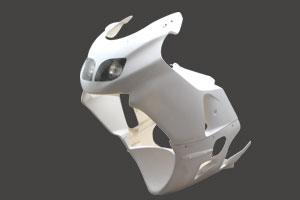 ZX-12R(00~01年) デュアルヘッドライトフルカウルSPL FRP/白 A-TECH(エーテック)