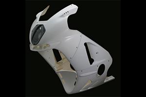 ZX-12R(02年~) LunaSole(ルナソーレ) フルカウルSTD FRP/白 A-TECH(エーテック)