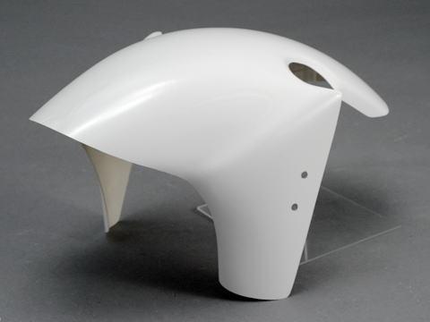 KSR110(11年~) フロントフェンダー FRP/黒(FB) A-TECH(エーテック)