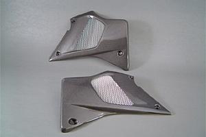 Dトラッカー(D-TRACKER)01~05年 ラジエターシュラウドSPL左右セット FRP/白(FW) A-TECH(エーテック)