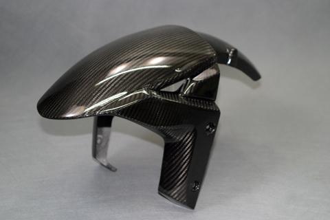 Ninja H2(15年~) フロントフェンダーSTD 綾織ドライカーボンクリア塗装済 A-TECH(エーテック)