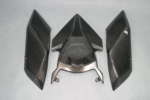 Ninja H2(15年~) シートカウル 3点セット 開繊ドライカーボンクリア塗装済 A-TECH(エーテック)