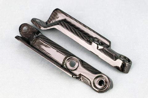 平織ドライカーボン フロントアームカバー クリア塗装済 A-TECH(エーテック) KATANA(刀)19年