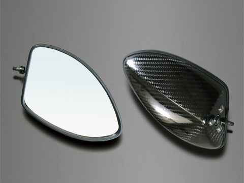 GPZ900R Ninja(ニンジャ) 綾織ドライカーボンミラー(タイプ5) アルミシャフトセット A-TECH(エーテック)