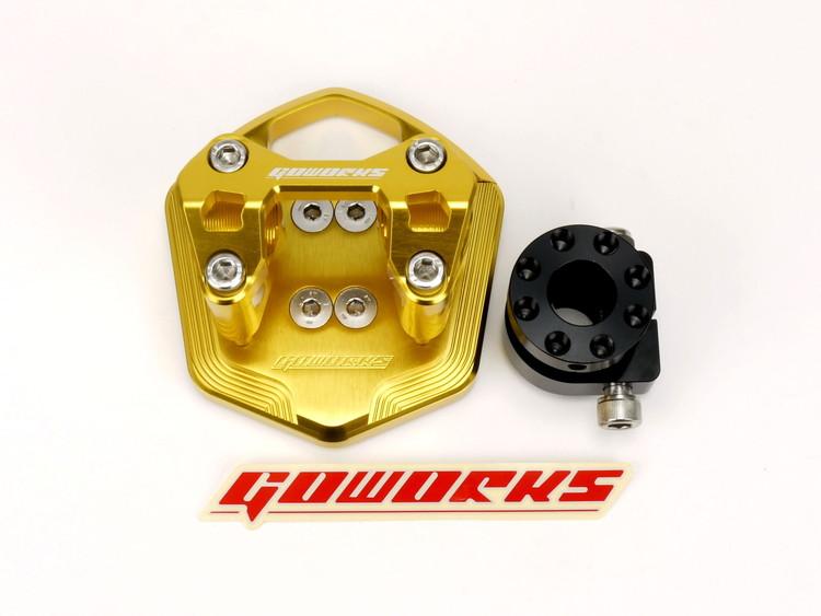 Go Worksハンドルブラケットセット(ハンドルポスト)Φ22.2mmハンドル用 ゴールド ATLAS(アトラス) SMAX