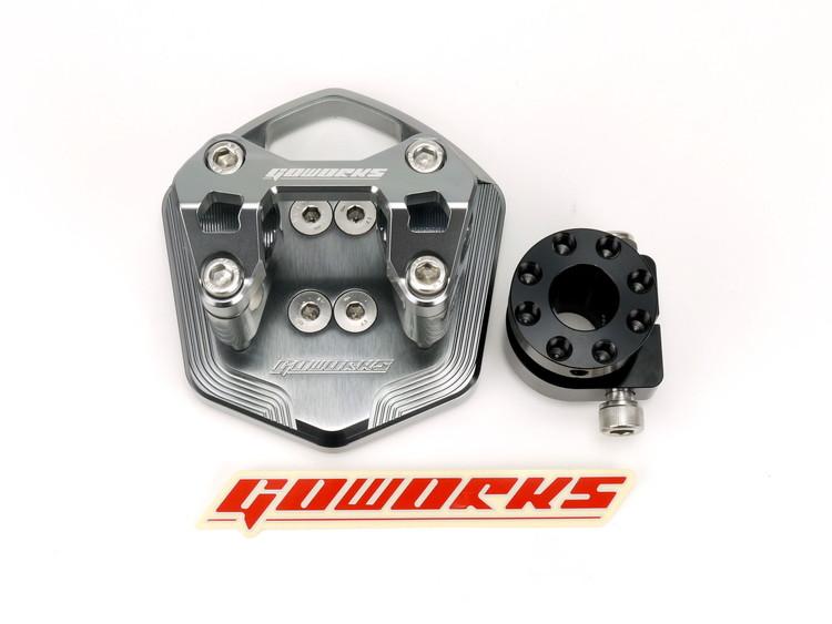 Go Worksハンドルブラケットセット(ハンドルポスト)Φ22.2mmハンドル用 グレー ATLAS(アトラス) SMAX