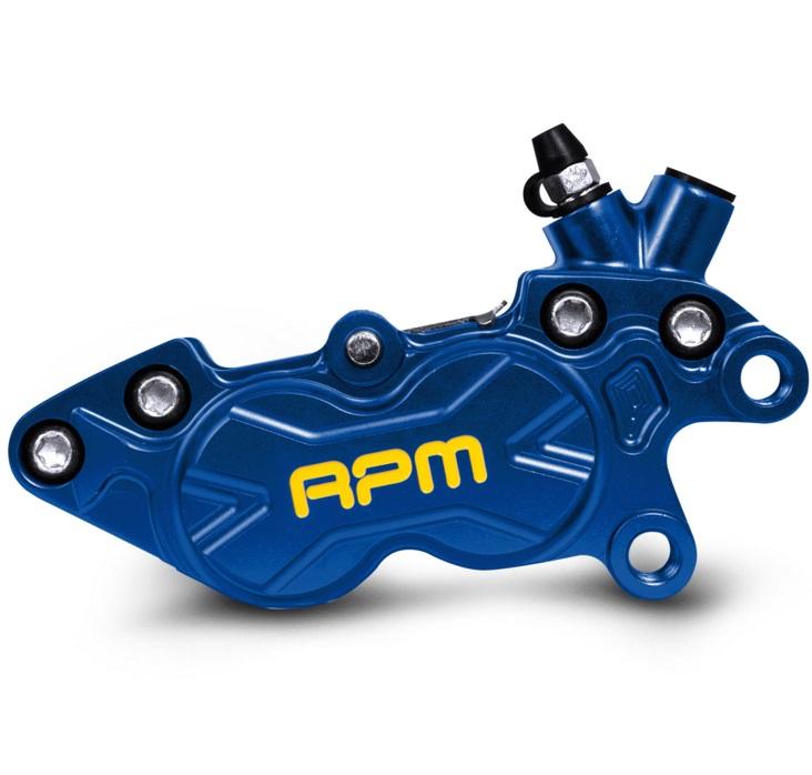 40mmピッチキャリパー BK-4R-006 CNC Axial P4 右用 ブルー 台湾RPM