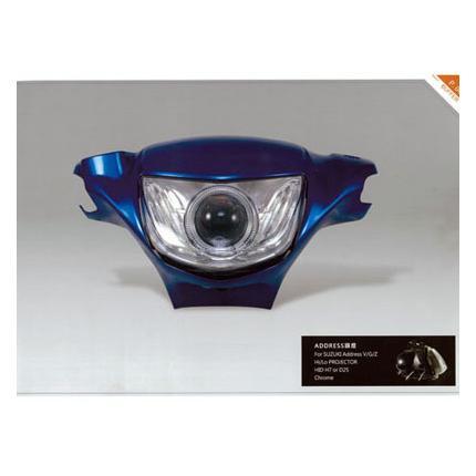 魚眼黒+HID CCFL 白 Ver.,2 AA-77 Light Master アドレスV125(ADDRESS)