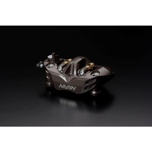 NISSIN 4Pot 削り出しラジアルフィット ブレーキキャリパー108mm/4パッド 右側 ブラウン ADVANTAGE(アドバンテージ)