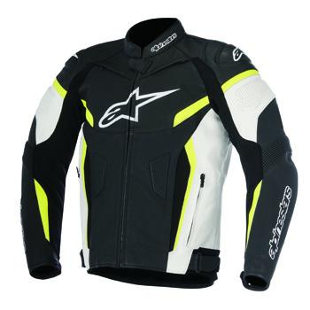 GPプラスR レザージャケット ブラック/ホワイト/蛍光イエロー 50サイズ アルパインスターズ(alpinestars)