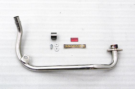 フロントパイプ(ステンレス製) ASAKURA(浅倉商事) GROM(グロム)JC61(1型)13~15年