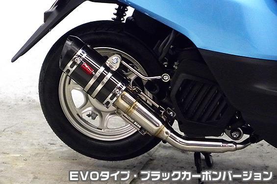 ZZRタイプマフラー EVOタイプ ブラックカーボンバージョン ASAKURA(浅倉商事) タクト(TACT)AF75
