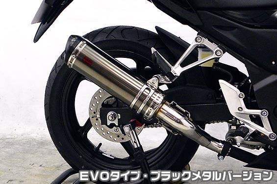 TTRタイプスリップオンマフラー EVOタイプ ブラックメタルバージョン ASAKURA(浅倉商事) CB250F(14~)