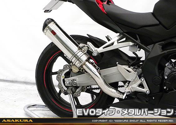 TTRタイプマフラー EVOタイプ メタルバージョン スリップオン ASAKURA(浅倉商事) CBR250RR(2BK-MC51)