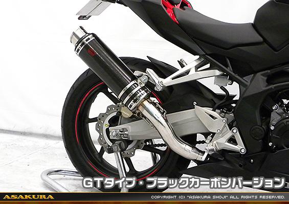 TTRタイプマフラー GTタイプ ブラックカーボンバージョン スリップオン ASAKURA(浅倉商事) CBR250RR(2BK-MC51)