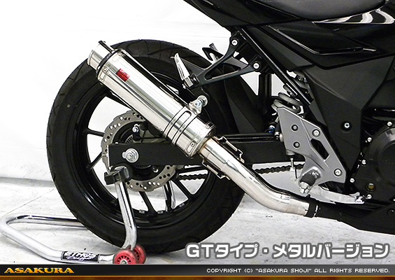 TTRタイプマフラー GTタイプ メタルバージョン ASAKURA(浅倉商事) GSX250R(2BK-DN11A)