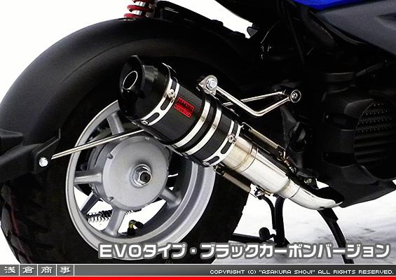 ZZRタイプマフラー EVOタイプ ブラックカーボンバージョン ASAKURA(浅倉商事) ビーウィズ(BWS50)SA53J