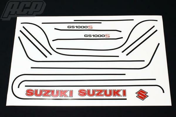 純正タイプラインステッカーセット(赤ベース) ACP(エーシーピー) GS1000