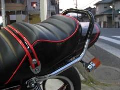 メッキゴム付きタンデムバー【テクニカルサービス本多製】 ACP(エーシーピー) XJ400E/D