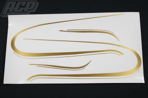純正タイプラインステッカーセット(ゴールド) ACP(エーシーピー) KZ1000
