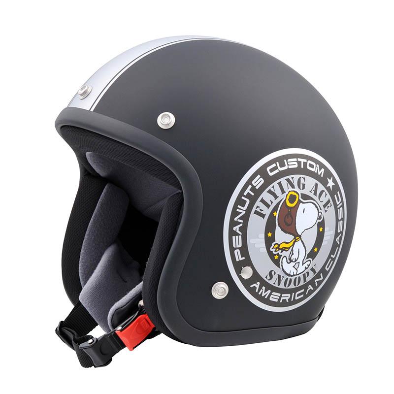 SNJ-20 SNOOPY(スヌーピー)ヘルメット バイカーMBK/SL 57-59cm アークス(AXS)