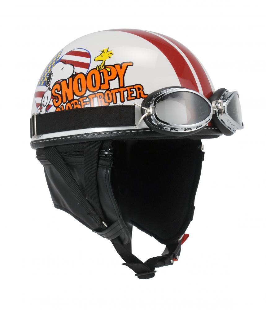 SNV-22 SNOOPY(スヌーピー)ヘルメット ビンテージ アメリカンH OWH/SL ゴーグル付 57-59cm アークス(AXS)