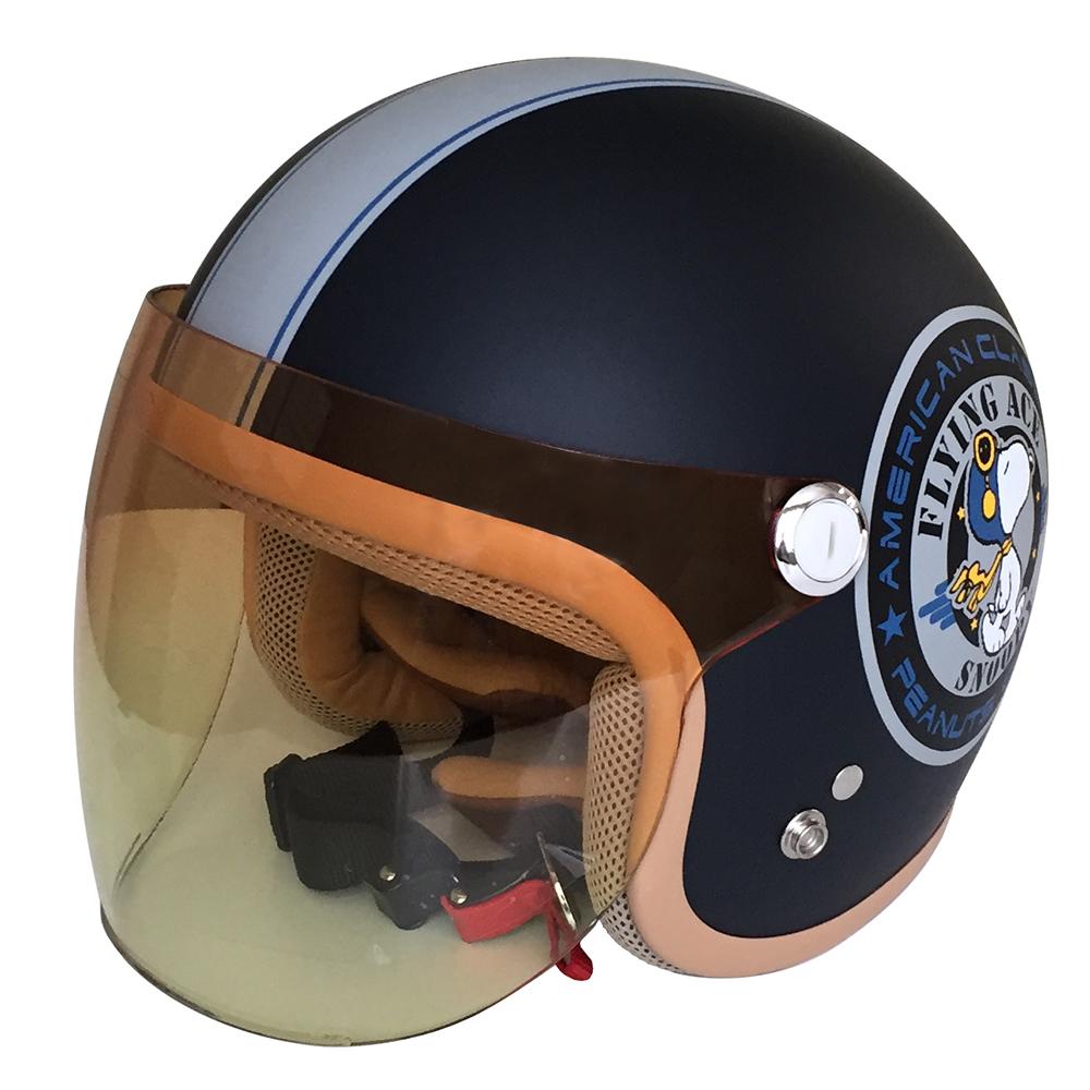 SNJ-45 SNOOPY(スヌーピー)ヘルメット ネイビー レディス 54-57cm アークス(AXS)