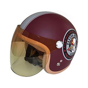 SNJ-45 SNOOPY(スヌーピー)ヘルメット ワイン レディス 54-57cm アークス(AXS)