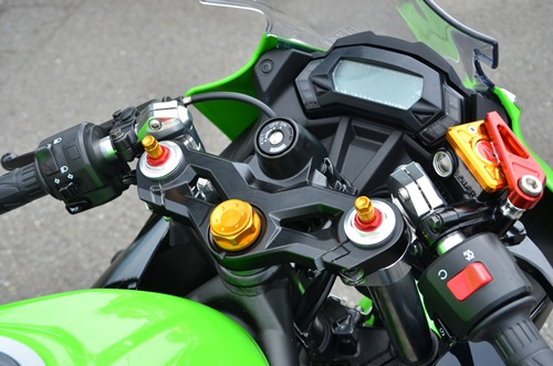 ハンドルセット(イニシャルアジャスターインナーカラー ブラック) AGRAS(アグラス) Ninja250SL(ニンジャ250SL)