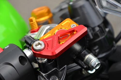 フロントマスターキャップガードセット チタン AGRAS(アグラス) Ninja250SL(ニンジャ250SL)