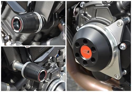 レーシングスライダー フレーム(φ50)+ジェネレーター ロゴ無 ジュラコン/ブラック AGRAS(アグラス) MT-10/SP (17年)