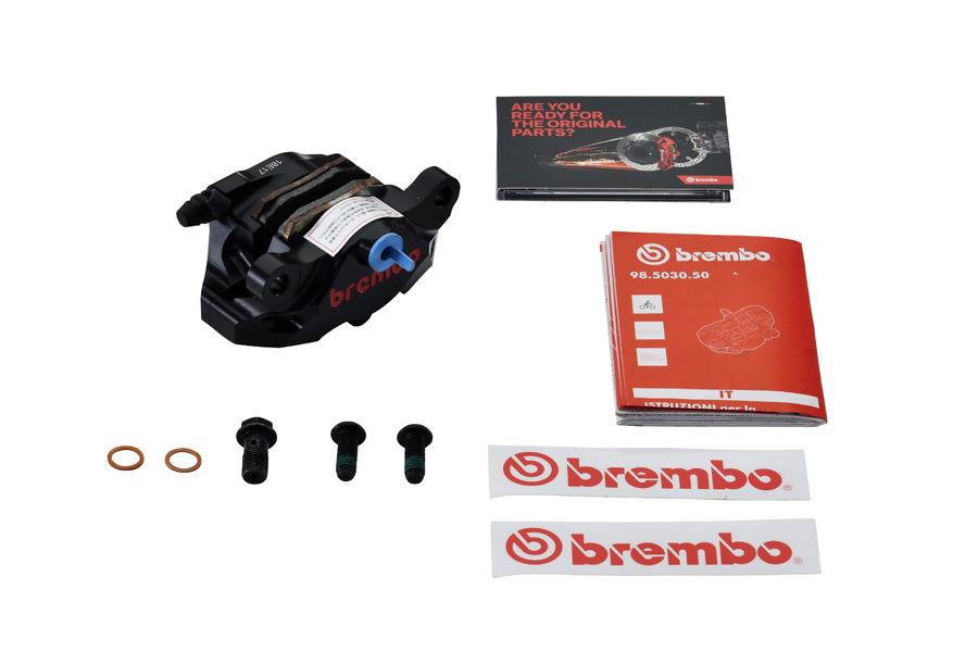 120.A441.30 CNC リアキャリパー 2P Φ34 ブラックアルマイト 84mmピッチ BREMBO(ブレンボ)