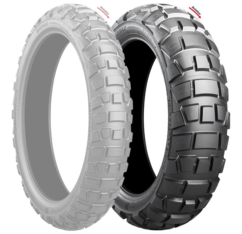 BATTLAX ADVENTURECROSS AX41 4.10-18 M/C 59P リア用 WT/TL BRIDGESTONE(ブリヂストン)