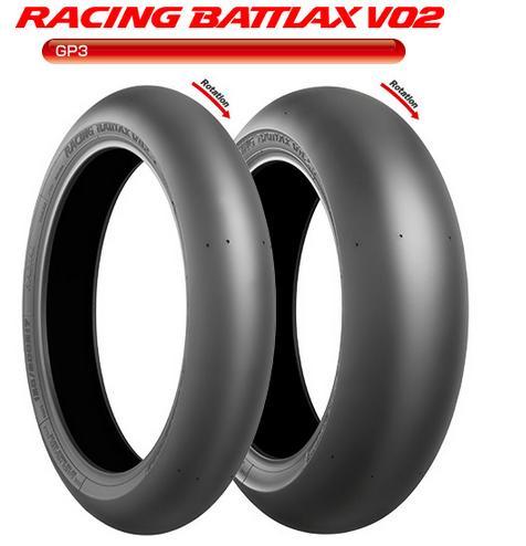 RACING BATTLAX(レーシングバトラックス) V02FZ フロント 90/580R17 TL ミディアム GP3専用 BRIDGESTONE(ブリヂストン)