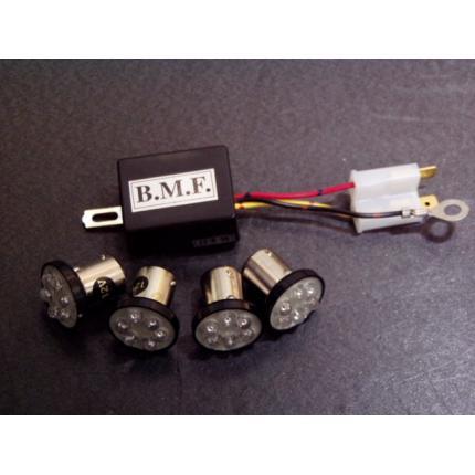 LEDウインカーバルブデジタルリレーセット ビームーンファクトリー(B-MoonFactory) モンキー、ダックス、シャリーなどの12V車輌