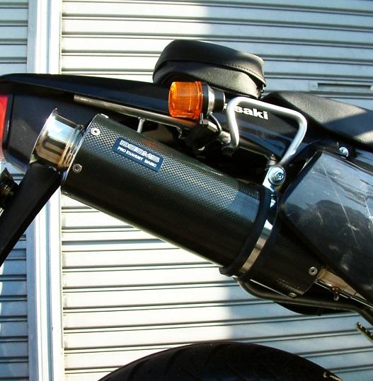 SS300カーボンマフラー アップタイプ スリップオン BEAMS(ビームス) Dトラッカー(D-TRACKER)~07年
